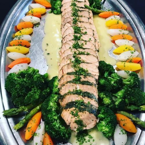 rolls salmon